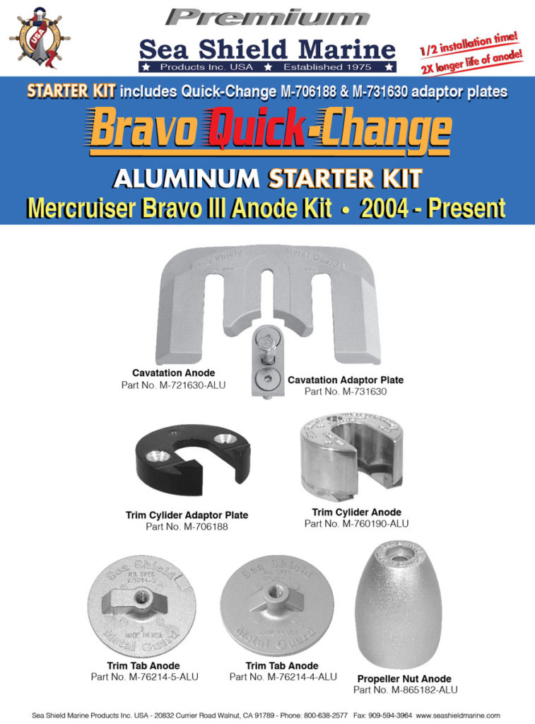 Mercruiser Bravo 3 Quick Change Kit